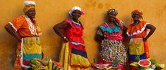 These women stroll along the beach in Cartagena selling wonderful fresh fruit.