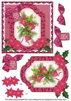 Cerise Bells Wonderful Time 6in Christmas Step by Step on Craftsuprint - Add To Basket!