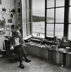 Terry Frost in a Porthmeor Studio, St Ives, Cornwall - Painter