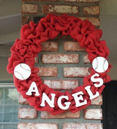 Angels of Anaheim Wreath by CountryGirlWreaths on Etsy, $50.00