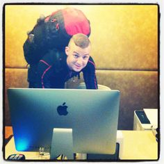 Works till last minute!:) Enjoy your vacation Lucas!! #workhard #iconhotelprague