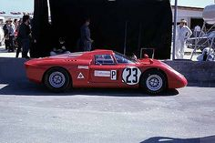 The Alfa Romeo T33/2 that was driven by Mario Andretti and Lucien Bianchi at the 1968 24-Hours of Daytona.
