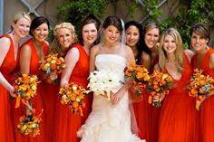 bridesmaids orange dresses - Buscar con Google