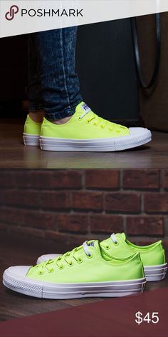 2f49666740e Converse womens Chuck Taylor All Star II OX Volt Converse. Brand new  without box.