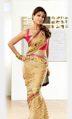 Actress Nayanthara in Silk Saree