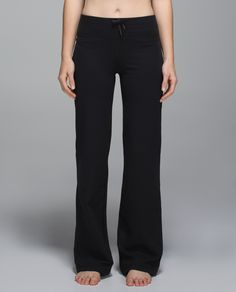 We designed these relaxed-fit pants to move with us in Hatha. Wear the adjustable waist  high to keep  covered or fold it low for freedom of movement. Added drawcords at the hem allow us to shorten them into crops and grab our ankles in Forward Fold.