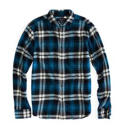 Heritage Flannel Shirt in Teal (American Eagle)