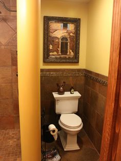 Mediterranean Bathroom Toilet Design, Pictures, Remodel, Decor and Ideas