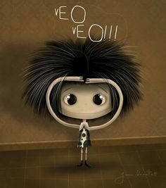 Puro Pelo Wall Art Crafts, Art Wall Kids, Cute Images, Cute Drawings, Illustrations Posters, Girl Hairstyles, Sketches, Clip Art, Pure Products