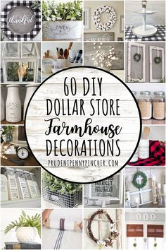 Add a country look to your home on a budget with these dollar store farmhouse decor ideas. From centerpieces to wreaths, there are plenty of DIY farmhouse decor ideas for your kitchen, living room, ba Dollar Tree Decor, Dollar Tree Crafts, Dollar Tree Christmas, Dollar Tree Finds, Dollar Store Hacks, Dollar Stores, Dollar Store Decorating, Small Porch Decorating, Diy Garden Decor