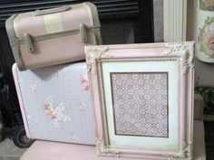 Antoinette Chalk Paint Frame French Wood Frame Vintage Wallpaper 11x14 Cottage Pink It only took me 25 years to get on the band wagon of Annie