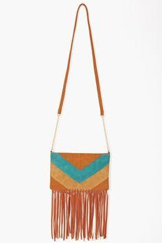 Chevron Fringe Bag