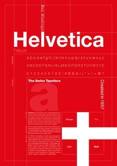 Max Miedinger : Fonte tipográfica Helvetica Neue.  Cartaz de Clement Thorez