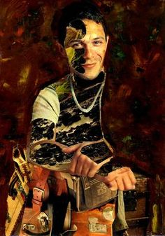 "Saatchi Art Artist CARMEN LUNA; Collage, ""15-Collagemania Carmen Luna. Alejandro Sanz."" #art http://www.saatchiart.com/art-collection/Assemblage-Collage/Collagemania-CARMEN-LUNA/71968/46137/view"