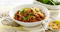 Creamy Bolognese with Garlic Crumbs