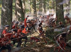 Highlanders in combat against Native American Indians