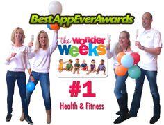 The Wonder Weeks team celebrating winning the award for Best App Ever in the categorie Health & Fitness!