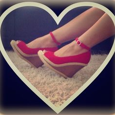 Colin Stuart from Victorias SecretHOST PICK Beautiful Colin Stuart red wedges.NEVER USED STILL IN BOX.Cost $100 Victoria's Secret Shoes