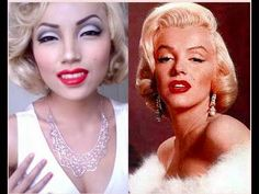 Marilyn Monroe Make-up Transformation ! Devine thought of you when I saw this! Marilyn Monroe Makeup, Marilyn Monroe Costume, Marylin Monroe, Makeup Inspo, Makeup Inspiration, Makeup Ideas, Beauty Make Up, Hair Beauty, Kerala Wedding Saree