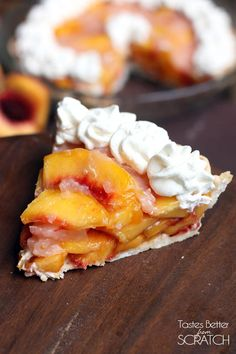 Fresh Peach Pie is a simple and delicious no-bake dessert and a yummy way to use your fresh peaches! Try is with whipped cream! Fresh Peach Pie, Fresh Fruit, Delicious Desserts, Yummy Food, Dessert Recipes, Easy Desserts, Cake Recipes, Peach Pie Recipes, Peach Pie Filling