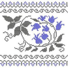 Cross Stitch Floral Border 4-4base+bdr1&2