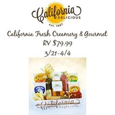 California Delicious - http://sweepsmeoffmyfeet.com/2015/03/27/california-delicious-2/  Networkingwitches is giving you a chance to win 1 California Fresh Creamery & Gourmet RV $79.99 !   #California, #Delicious