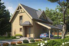 Projekt domu D03 Grześ drewniany 84,66 m2 - koszt budowy 76 tys. zł - EXTRADOM Home Fashion, Cabana, House Styles, Outdoor Decor, Home Decor, Decoration Home, Room Decor, Cabanas, Home Interior Design