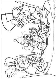 Free coloring page coloring adult disney drawing alice in