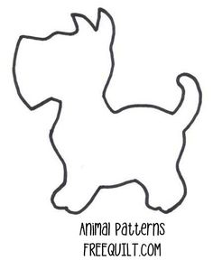 pattern for applique   Dog Quilt Patterns - Dog Applique Patterns, Quilt Blocks