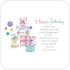 Happy Birthday - I hope this birthday greeting, brings happiness to you and b. Animated Birthday Cards, Birthday Wishes Greeting Cards, Free Happy Birthday Cards, Happy Birthday Best Friend, Happy Birthday Wishes Quotes, Happy Birthday Girls, Birthday Blessings, Happy Birthday Greetings, Birthday Verses
