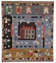 """Jan Patek: Moda's Second """"Oldest"""" Designer « modafabrics Primitive Quilts, Country Primitive, Christmas Makes, Christmas Star, Small Quilts, Mini Quilts, Quilting Board, Embroidered Quilts, House Quilts"""