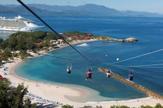 Zip down the zip line in #Labadee, our private island #destination.