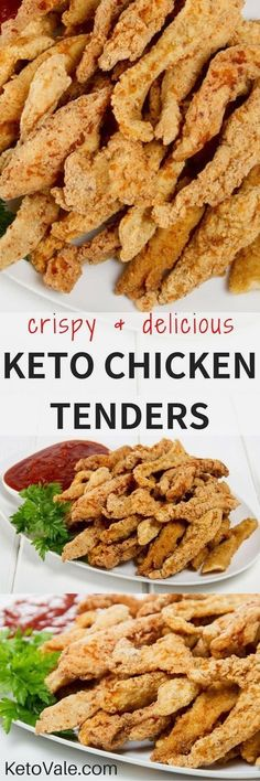 Low Carb Keto Chicken Tenders Recipe. Super crispy and tasy you will fall in love!