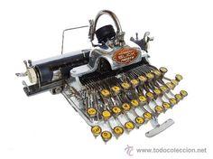 Máquina de escribir antigua Blickensdefer año 1906 ALUMINIO