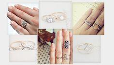 Ring stack: des bagues de fiançailles tendance à accumuler http://www.vogue.fr/mariage/bijoux/diaporama/mariage-inspiration-sur-instagram-bagues-de-fianailles-en-diamants-accumuler/20635#instagram-bagues-de-fianailles-erica-weiner