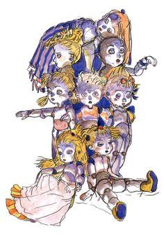 Final Fantasy IV - Calcabrina Concept Art - Yoshitaka Amano