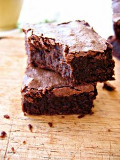 The Bojon Gourmet's Gluten-Free Whiskey Brownies: whipped eggs create a light-yet-fudgy texture in decadently dark and boozy brownies