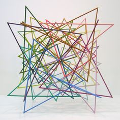 Geometric art of Morton C. Solid Geometry, Sacred Geometry, Line Sculpture, Sculptures, Color Lines, Geometric Art, Shapes, Abstract, Earrings