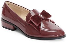 |Look at that bow detail! Love Imnyc Isaac Mizrahi Patent Leather Loafers with Pearl Detail #affiliate