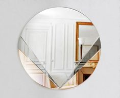 Inspired by the art deco and art nouveau periods, DSHOP's Petal Mirror is handcrafted to the highest museum-quality standards by a team of skilled glass artists and craftsman. Art Deco Spiegel, Spiegel Design, Home Design, Art Deco Mirror, Wall Mirror, Mirror Room, Interior Paint Colors For Living Room, Copper Mirror, Art Deco Stil
