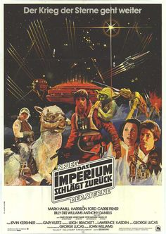 German Star Wars the Empire Strikes Back movie poster