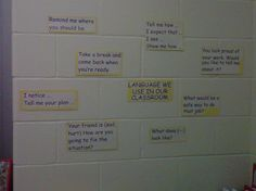 Responsive classroom language