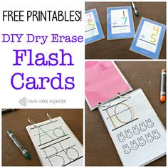 Make DIY Dry Erase Flash Cards With Free Printables - Down Home Inspiration