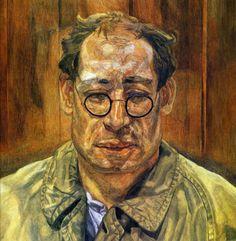 "expressionism-art: "" Man in a Mackintosh, Lucian Freud Size: cm Medium: oil, canvas"" Sigmund Freud, Lucian Freud Portraits, Lucian Freud Paintings, Robert Rauschenberg, Edward Hopper, Bella Freud, Kandinsky, Figure Painting, Painting & Drawing"