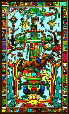 Mayan Art Apropriation K'inich Janaab' Pakal - Charolastra[: astral cowboy] Manifesto: There's no greater honor than being a charolastra whatever you feel like Pop beats poetry Get high at least once a day you shall not screw another charolastra's girl Ancient Aliens, Ancient Art, Mayan Astrology, Winged Serpent, Aztec Symbols, Aztec Warrior, Aztec Art, Inca, Naive Art
