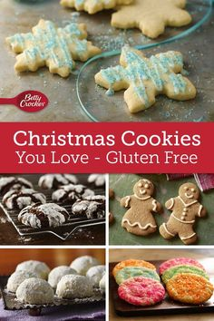 Gluten-free eaters rejoice: This is the beginning of your best cookie tray ever! Gluten Free Christmas Cookies, Best Christmas Cookie Recipe, Gluten Free Cookies, Sugar Cookie Recipe Easy, Easy Sugar Cookies, Cookie Recipes, Spritz Cookies, Filled Cookies, Christmas Sprinkles