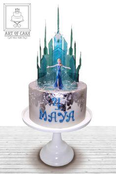 Elsa Frozen Castle Birthday Cake - created based on the Sugar Geek Show tutorial Frozen Themed Birthday Cake, Castle Birthday Cakes, Frozen Themed Birthday Party, Birthday Cake Girls, Themed Cakes, Birthday Parties, Frozen Castle Cake, Disney Frozen Cake, Disney Cakes
