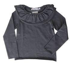 Colecção Outono Inverno 16/17 : T-Shirt 2 Folhos Cinza