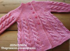 Baby Cardigan Knitting Pattern Free, Kids Knitting Patterns, Knitting For Kids, Knitting Designs, Crochet Coat, Knitted Coat, Knit Baby Sweaters, Girls Sweaters, Crochet Girls