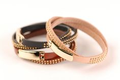 delicate studded leather bracelets from Lucca Couture